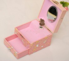 Handmade pretty coloring christmas music box