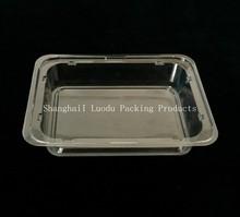 Plastic cake tray/box, pet blister cover for dessert