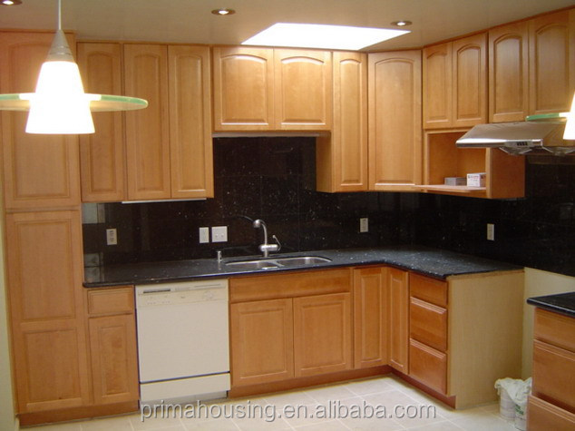 Modern Home Furniture Pictures Space Saving Small Kitchen Design Oak Wood Kitchen Cabinets View