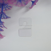 Plastic J hook hang tab for display packaging