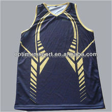 Navy sublimated basketball uniform for team wear