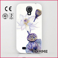 Alibaba Trusted Manufacturer supply printed flower pattern case for samsung s4 wholesale