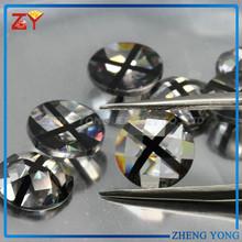 round shape special color CZ gemstones,semi precious cubic zirconia