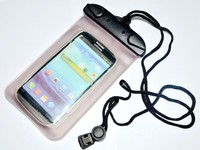 PVC Carring Bags For Cell Phone Waterproof Diving Pouch For Water Sports