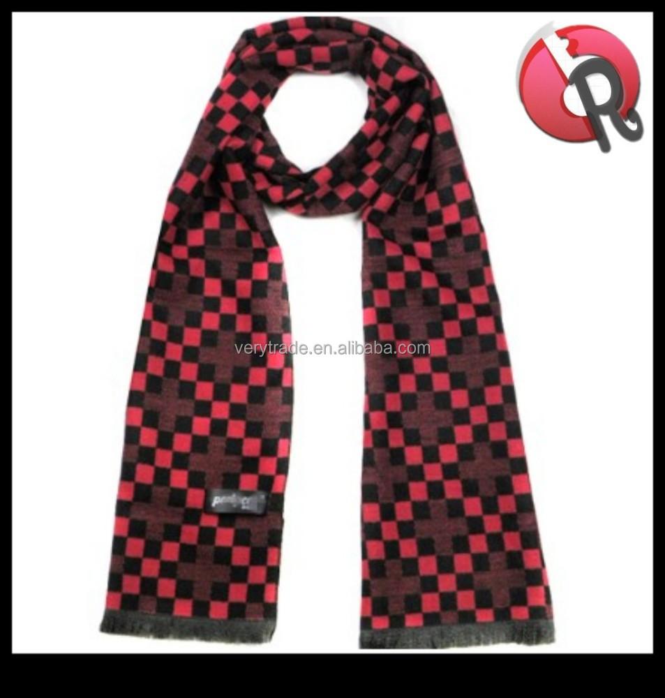 high quality mens warm winter wool fashion scarves