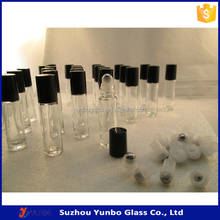 New Style 10 ml Clear Glass Roll on Bottle with Stainless Steel Roller Ball