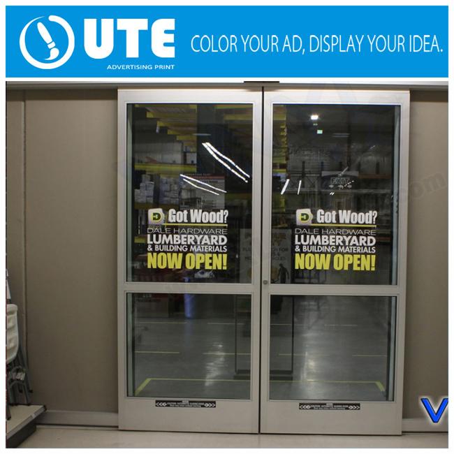 Glass Door Advertising Promotion Removable Window Vinyl Sticker