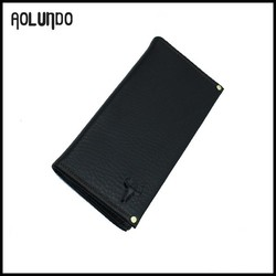 Natural Cow Leather Long Wallet Men