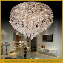 Luxury led crystal pendant & crystal chandelier lighting with k9 champagne Crystal Beads from direct manufacturer of lighting