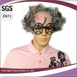 cheap short curly grey scalp halloween clown wigs