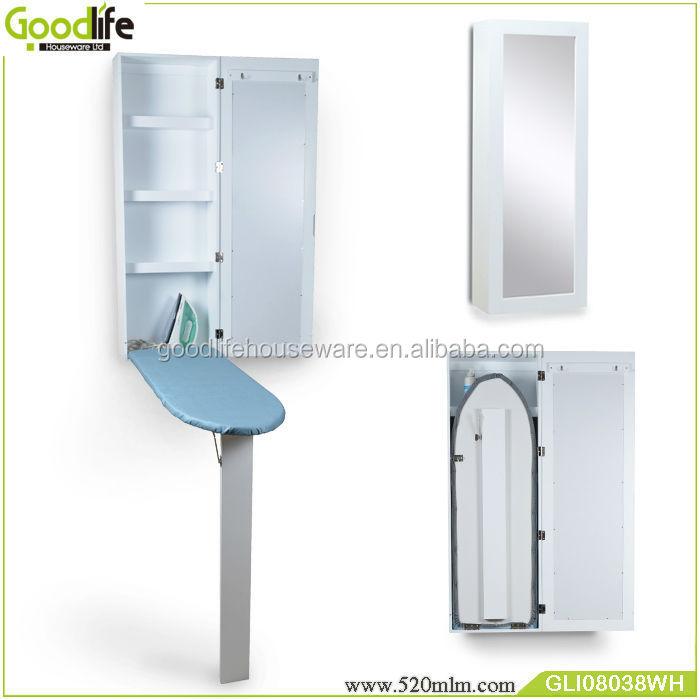 Salon mural en bois table repasser armoire avec miroir dressing planche repasser id de - Support mural table a repasser ...