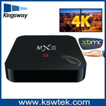 New arrival full HD 4K mxiii tv box KODI preinstall mxiii tv box apk installer google play