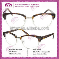 The Newest Design Half Frame Novelty Eyeglasses