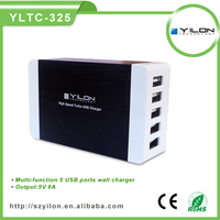 High Quality 5V 8A EU 5 usb AC Travel cell phone adapter for iPhone 5 4 4S for Samsung Galaxy S2 S3 S4 for HTC