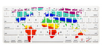 Map Custom Silicone Keyboard Cover Skin Laptop Protective Film Sticker For MacBook Air 13'' Pro 13'' Pro Retina 13.3 inch