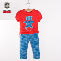 Kid clothes 2012 ruffle shoulder casual kids clothing set