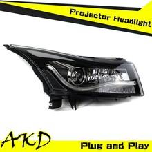 AKD Car Styling Cruze LED Headlight for Chevrolet Cruze Headlights 2009-2014 Cruze led Head Lamp Projector Bi Xenon Hid H7