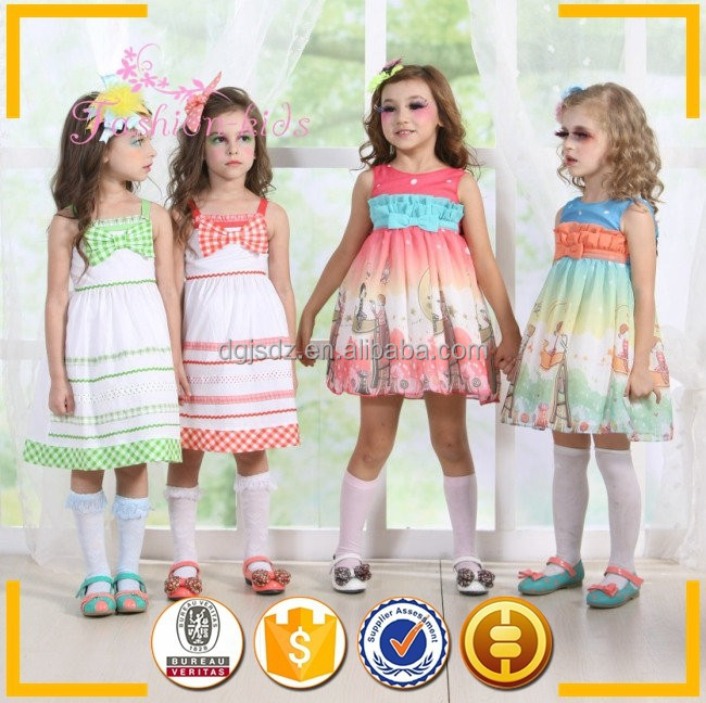 Kids fashion dresses pictures wholesale modern girls dresses designs