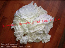 White cotton T-shirt cleaning rags(new material)
