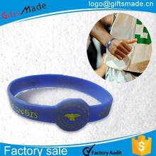 Encargo de la alta calidad de silicona personalizadas alivio del dolor wrist band