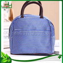 stripe canvas luxury shopping bag