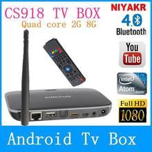 Bluetooth CS918 Mini PC Android TV box 4.4.2 tv stick 1.8 GHz 2GB RAM 8GB Rk3188 Quad Core kodi Remote Control