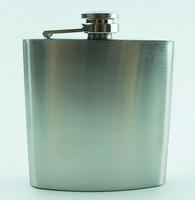 Stainless Steel Hip Flask Whiskey Wine Pot Bottle Portable Lighter Mini Alcohol Bottle 6oz mat surface