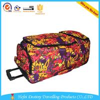 high quality printing durable trolley travel bag big