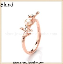 Original design Animal Style 925 Sterling Silver bird ring jewelry wholesale ,rose gold adjustable silver rings