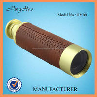 outdoor handheld brass with covered Monocular Telescope 9x32