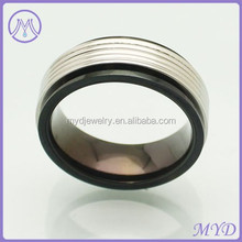 Promotional black Plated Stainless Steel Jewelry Graduation Class Ring