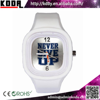 Never Give Up Custom Square Jelly Sports Unisex xxcom Watch