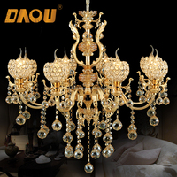 Hot sale Energy Saving pendant light modern luxury style crystal on indian chandelier
