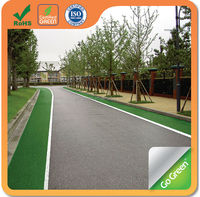 Thin overlay asphalt color coating for road paving
