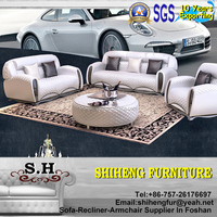 2015 Italian Modern Sofa Living Room Furniture Leather Sofa Set XY-C37