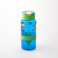 TRITAN squeeze plastic fruit water bottle with straw