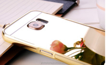 Mobile phone hybrid case for samsung S6 mirror back cover case