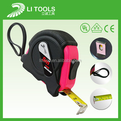 2015 promotion steel tape measure/logo rubber coated measuring tapes