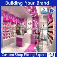 elegant glamorous underwear display cabinet for lingerie boutique