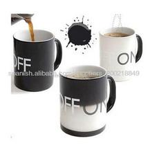 mug on off,sensitive porcelain cups,color changing thermal mug