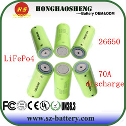 High Capacity Battery Cell Rechargeable A123 APR26650 Battery