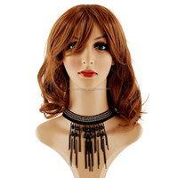 Shiny wholesale Choker Black Lace Necklace Victorian Steam punk Gothic beads necklace