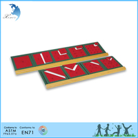 Preschool mathematic educational Metal Squares and Rectangles with wooden base board