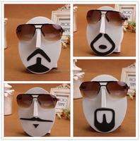 Face shaped EVA tabletop wall mounted eyewear display stand, wall art decor