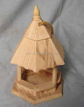 Unfinished custom wooden bird house, feeder, cage