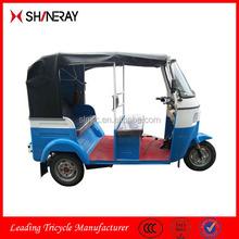 2015 hot sale Bajaj three wheel closed driving cab motor tricycle