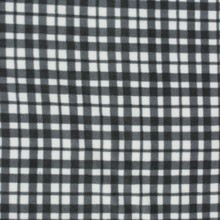 china wholesale cheap polar fleece blanket made by black white plaid fabric