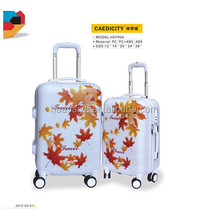 Carry-On Type and External Caster printed luggage cases