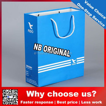 Top Quality cheap Promotional Printed bule recycle Kraft Paper Bag