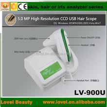 automatic digital microscope 5.0 MP High Resolution CCD USB iris skin analyzer and hair scope